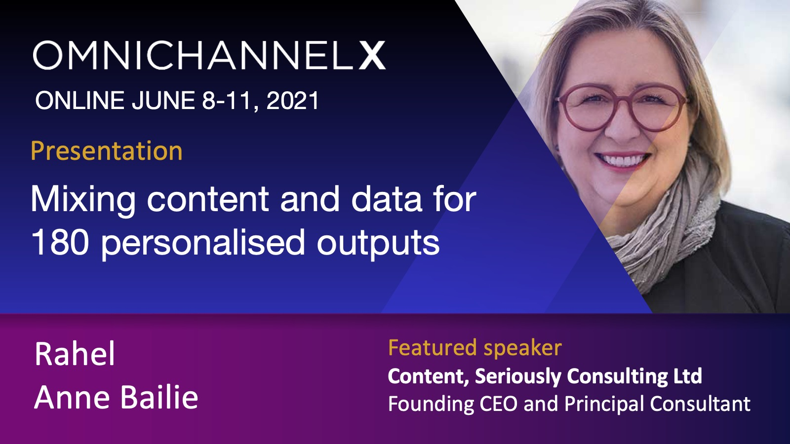 OmnichannelX - Mixing content and data for 180 personalised outputs